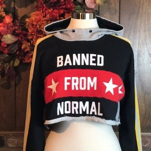 Rita Ora Adidas Hoodie Sweatshirt Distressed